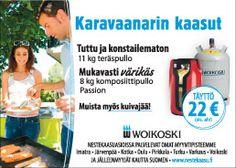 Lehtimainos karavaanarioppaassa / kohderyhmä: nestekaasun käyttäjät (Woikoski, 2014)