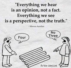 """Everything we hear is an opinion, not a fact. Everything we see is a perspective, not the truth."" -- Marcus Aurelius Want more business from social media?tk Want more business from social media? Wise Quotes, Great Quotes, Words Quotes, Motivational Quotes, Funny Quotes, Inspirational Quotes, Sayings, Motivational Pictures, Faith Quotes"