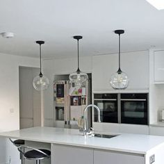 Art Deco Glass Pendant Light by Unique's Co., the perfect gift for Explore more unique gifts in our curated marketplace. Farmhouse Pendant Lighting, Pendant Lights, Kitchen Pendants, Glass Pendants, Light Art, Art Deco Kitchen, Kitchen Design, Glass Ceiling Lights, Art Deco