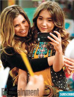 Danielle Fishel and Rowan Blanchard #GirlMeetsWorld