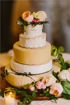 Charming chapel wedding with an amazing cheese wheel cake. #weddingchicks Captured By: Redfield Photography http://www.weddingchicks.com/2014/08/15/charming-chapel-wedding/