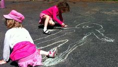 Chalk tracing (Upper Beach, Toronto )