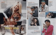 """In a new book celebrities pour their hearts out to the furry best friends that brighten their lives"" – People     A Letter To My Dog.com & Celebrity Letters Featured In People Magazine"