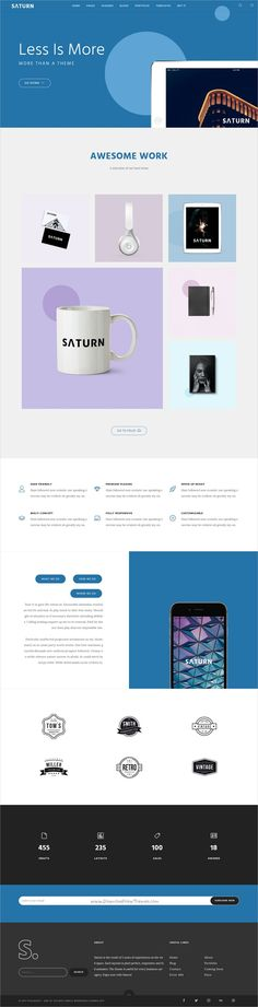 Saturn is a Multiuse and Accurate #responsive #WordPress Theme for any #flat professional use like agency, business, freelance, studio, blog, portfolio or photography website with 20+ Homepage and 100+ inner pages download now➩  https://themeforest.net/item/saturn-multiuse-and-accurate-wordpress-theme/19220340?ref=Datasata