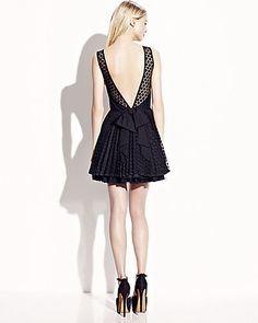 LOW CUT BACK PARTY DRESS BLACK
