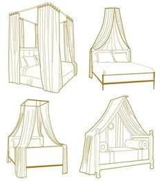 Bed canopy layout ideas. No link.