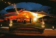 These marquees quite literally stretch over any space, creating unique party areas out of patios or gardens.