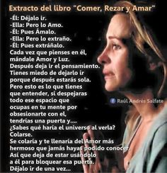 Comer, rezar y amar. … Spanish Inspirational Quotes, Spanish Quotes, Eat Pray Love Quotes, Simpsons Frases, Wall Quotes, Top Quotes, Random Quotes, Positive Thoughts, Positive Phrases