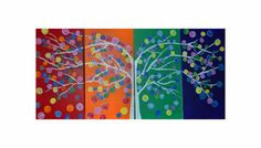 Tree Of Life huge painting 48X24 inch on Etsy, $160.00