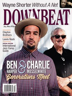 March 2013 cover of DownBeat Magazine Ben Harper and Charlie Musslewhite www.downbeat.com