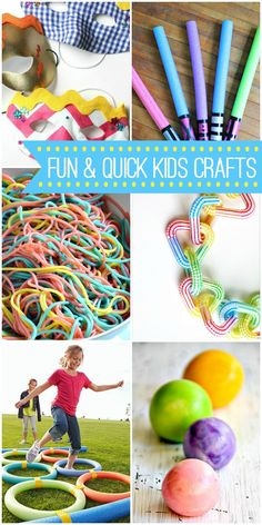 A collection of fun and quick crafts, perfect to keep the kids busy during the…