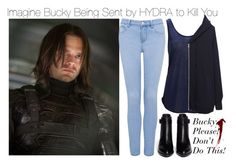 """Imagine Bucky Being Sent by HYDRA to Kill You"" by fandomimagineshere ❤ liked on Polyvore featuring Alexander Wang, Forever New, SELECTED and Zucca"
