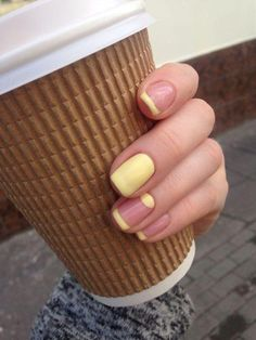 23 Great Yellow Nail Art Designs 2019 - Yellow Nails - Best Nail World French Manicure With A Twist, French Manicure Nails, Manicure Ideas, Nail French, Gelish Nails, Nail Nail, Nail Tips, Yellow Nails Design, Yellow Nail Art