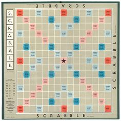 This is an image of a Scrabble board. Growing up, I played Scrabble with my Grandma and she helped me form and read words while playing this game. Kids Party Games, Birthday Party Games, Diy Games, Free Games, Games To Play, Game Party, 90th Birthday, Scrabble Crafts, Scrabble Frame