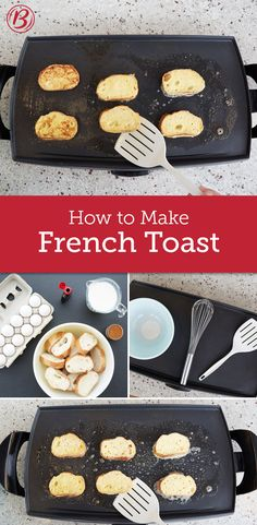What's not to love about battered and fried bread? Especially when there are so many ways to make it! Here's everything you need to know to whip up fabulous French toast for just about any meal. Breakfast Dishes, Breakfast Recipes, Make French Toast, Good Food, Yummy Food, Different Recipes, Brunch Recipes, Cooking Recipes, Bread Recipes