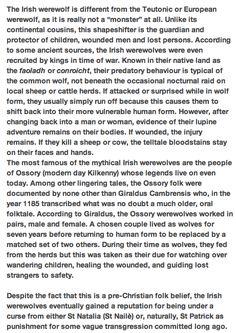 Irish werewolf lore
