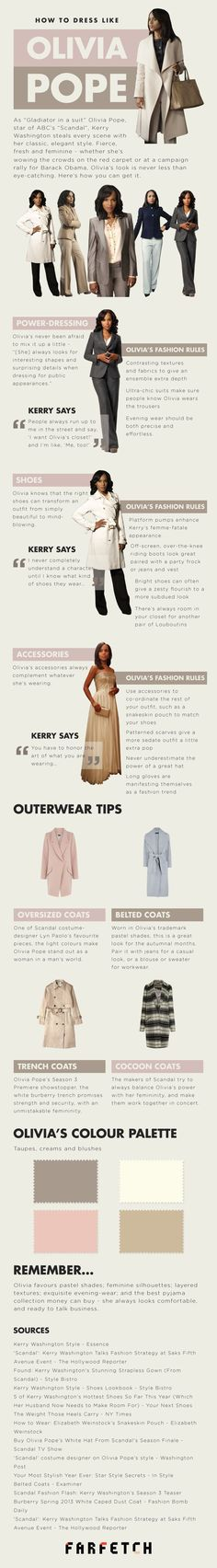 How to dress like Olivia Pope - can I just have her coat and jacket collection please? lol