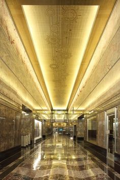Empire State Building Foyer; New York City - Art Deco chevrons everywhere!