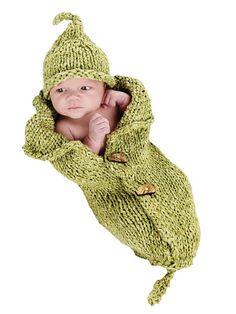 Knitted peapod pattern - must make this!