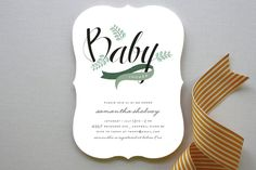 Windy Day Baby Shower Invitations by Moe and Me at minted.com