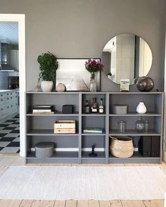 The IKEA Kallax collection Storage furniture is an important element of any home. Elegant and wonderfully simple the corner Kallax from Ikea , for example Low Bookcase, Ikea Billy Bookcase Hack, Billy Bookcases, Billy Bookcase Office, Bookshelves Ikea, Living Room Bookcase, Bookcase Styling, Ikea Furniture, Furniture Makeover