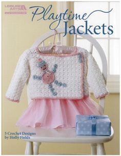 Maggie's Crochet · Playtime Jackets/ 9 different styles/ monkey, bead toy applique, forest, mushroom, ice cream, etc./ 12 to 24 mos./ CROCHET pattern