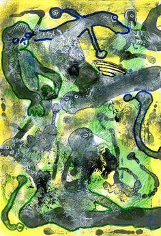 Ein Acryl von Peter Ammon Outsider Art, The Outsiders, Painting, Painting Art, Paintings, Painted Canvas, Drawings