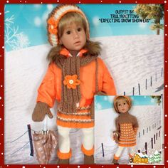 "TRULYKNITTING:H/KNIT O/FIT+acc.COMPATIBLE WITH GOTZ:HANNAH:HAPPY KIDZ 18"" DOLLS"