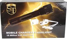 STUN MASTER MOBILE 18,000,000 VOLT MOBILE CHARGER STUN GUN/FLASHLIGHT #SM #StunMaster