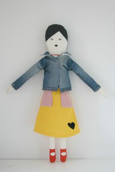 doll jeans jacket from Mikodesign and Misha Lulu Skirt!