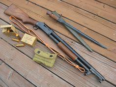 Winchester 1897 Trench Shotgun with bayonet