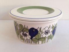RARE Retro Arabia Krokus Lidded Sugar Bowl 1970's Finland Esteri Tomula in Pottery, Glass, Pottery, Porcelain, Arabia | eBay