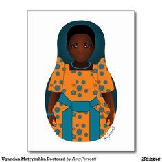 Ugandan Matryoshka Postcard