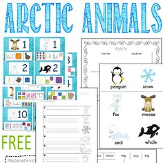 This arctic animals collection is geared towards a thematic study with younger students. Contains all free resources from The Curriculum Corner.