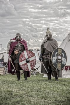 Left is Viking with questionable scale armor. Right is Vendel period.