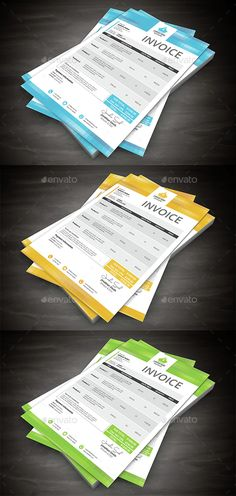 Invoice — Photoshop PSD #invoice #us letter • Available here →…