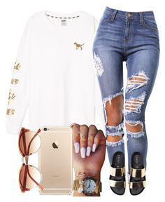 """""""07:02:15"""" by slimmthick ❤ liked on Polyvore featuring Victoria's Secret PINK and Vince Camuto"""