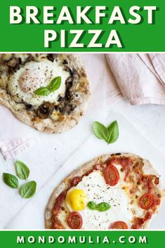 Breakfast pizza is an easy, fun and versatile dish. Make the pizza dough and top it with your favourite ingredients and an egg, for a delicious brunch dish. Egg Recipes For Breakfast, Breakfast Pizza, Brunch Recipes, Breakfast Ideas, Pizza Recipes, Cooking Recipes, Brunch Dishes, Mozzarella, Stuffed Mushrooms