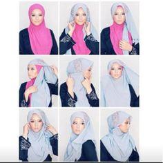 #2pieces #shawl #hijab #tutorial