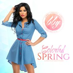 www.bby.ro Colorful, Shirt Dress, Spring, Summer, Shirts, Vintage, Dresses, Style, Fashion