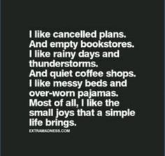 Things to make time for...