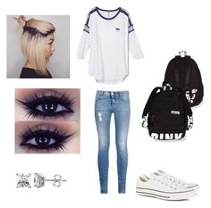 School Outfit by lorenaisrandom on Polyvore featuring polyvore fashion style STELLA McCARTNEY Converse BERRICLE
