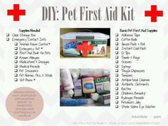 DIY Pet First Aid Kit Every pet owner should have one of these handy in their ho. DIY Pet First Aid Kit (Erste-Hilfe-Set für Haustiere) Jeder Besitzer Shih Tzus, Aspirin For Dogs, Diy First Aid Kit, Diy Pet, Emergency Vet, Emergency Preparedness, Emergency Planning, Emergency Supplies, Pet Sitting