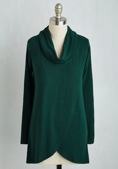 On-time Arrival Top in Spruce. Whether worn for a road trip, train adventure, or to travel by sky, this lightweight sweater will make your ensemble one less thing to worry about! #green #modcloth