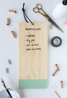 How-To: Hanging Wooden Chalkboard- Clear Chalkboard Paint