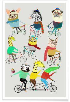 Bikers als Premium Poster von Ashley Percival   JUNIQE