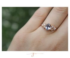 Tanzanite and Diamonds in Rose Gold by Gaby Marcos Atelier Gems Jewelry, Aurora, Sapphire, Rose Gold, Bridal, Diamond, Rings, Diamonds, Frames
