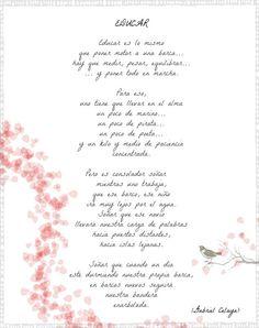 """""""Educar"""", poema de Celaya"""