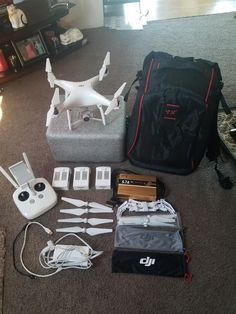 DJI Phantom 4 Advanced Drone Quadcopter 4k with 3 Batteries and LOTS of extras!