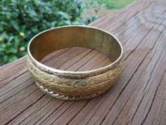Vintage Brass Bracelet from the 1930s. Hand Made Pattern Design  Ask a Question $20.00 USD